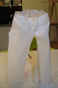 Patrón de pantalón en tres dimensiones